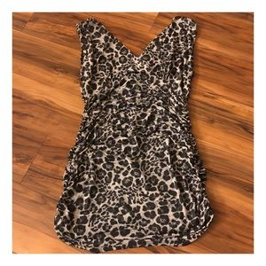 1990's Vintage Fitted Animal Print Bodycon Dress
